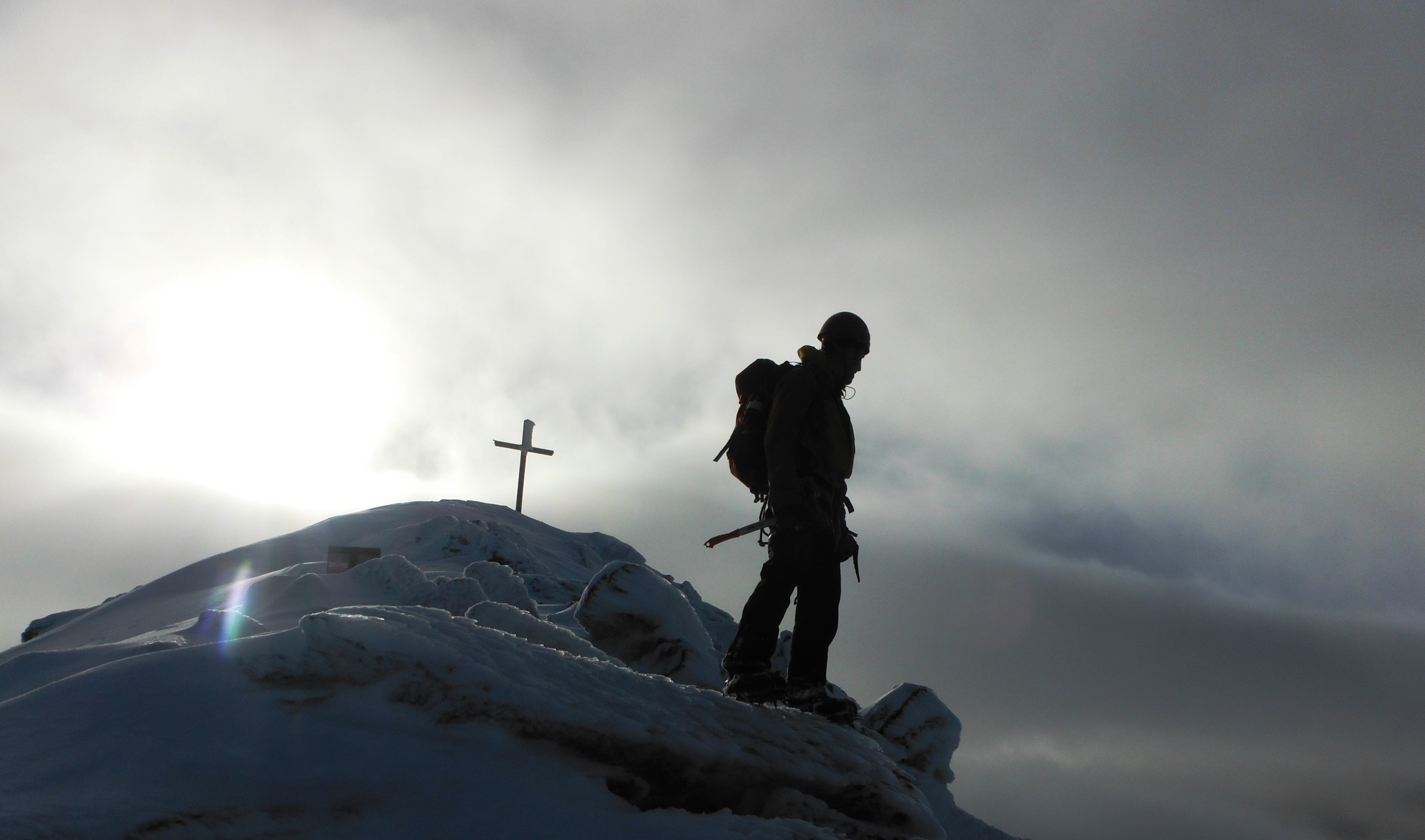 Taking it all in after a days Winter mountaineering on Carrauntoohil
