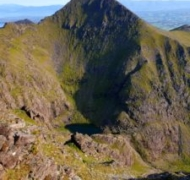 Ireland's 2nd highest - Binn Chaorach towers over Ireland's highest lake