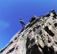 A sensational day rock climbing on the impressive sandstone crags of the Gap of Dunloe