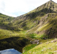 Loch Gabhrach...the Lake of Goats with the North Face of Carrauntoohil reflected