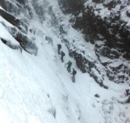 Winter skills course in Curve Gully - Carrauntoohil