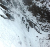 Winter skills course in Curve Gully - Carrauntoohil