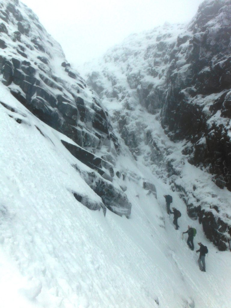 Winter Mountaineering skills course on Corrán Tuathail