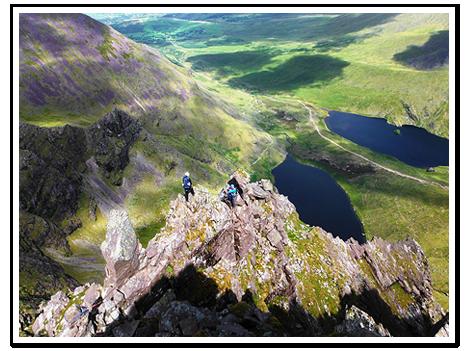 Climbing Howling Ridge Carrauntoohil