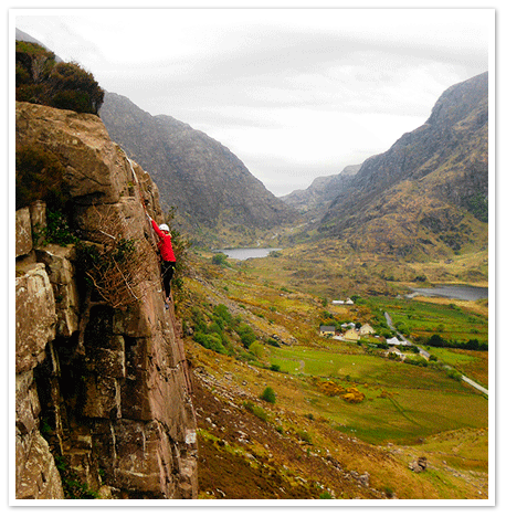 Rock Climbing in the spectacular Gap of Dunloe