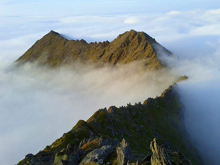Cruach Mhór above the mists