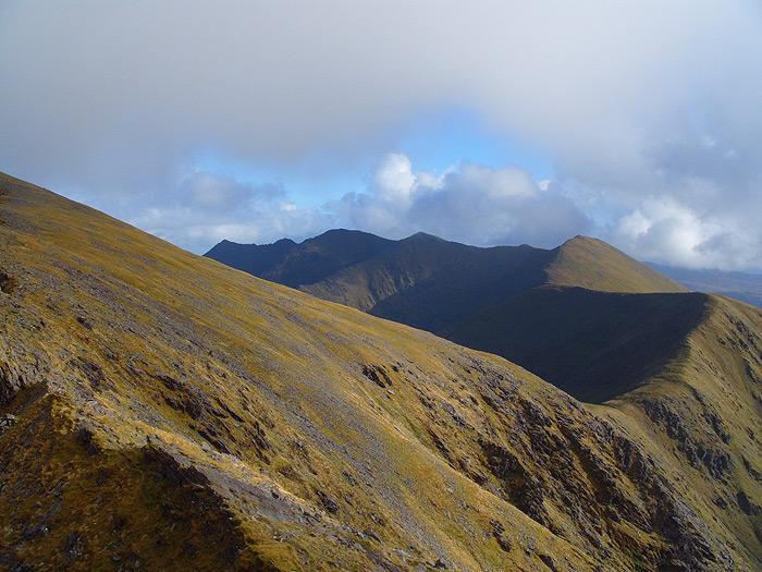 View along the Eastern Reeks