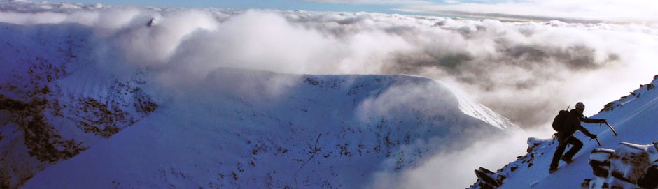 Winter mountaineering in the Reeks