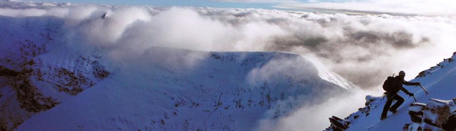 Winter mountaineering in the Reeks