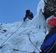 Climbing 'The Lick' on Corrán Tuathail
