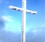 Carrauntoohil summit in Winter