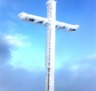 Carrauntoohil summit in Winter