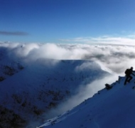 Winter Mountaineering on Corrán Tuathail