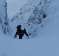 Winter mountaineering in Kerry