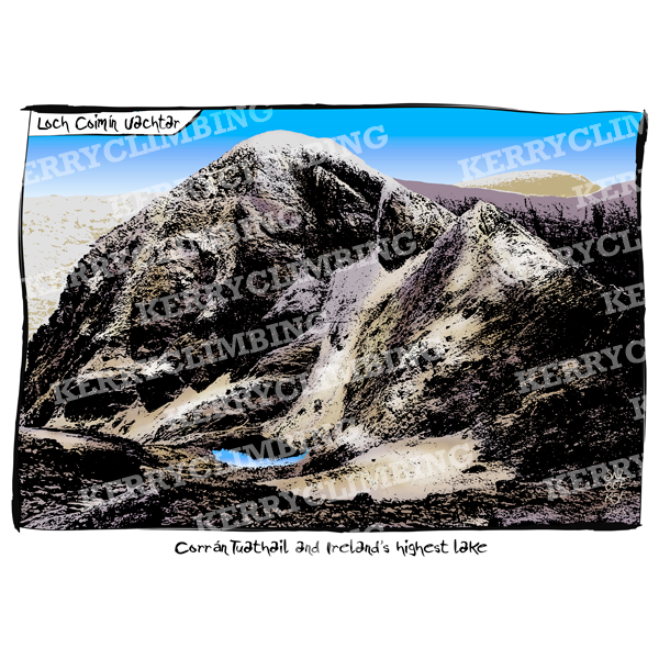 Kerry Climbing Loch Coimin Uachtar poster