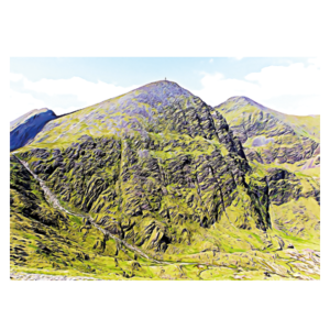 Carrauntoohil Devils Ladder postcard