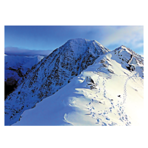 Carrauntoohil footprints postcard