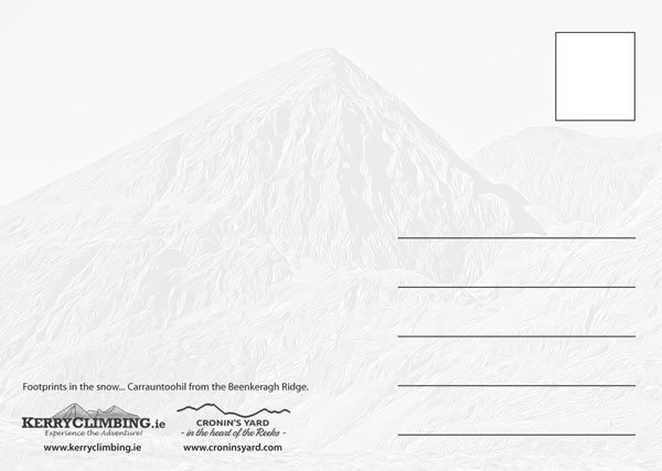 Carrauntoohil footprints postcard back