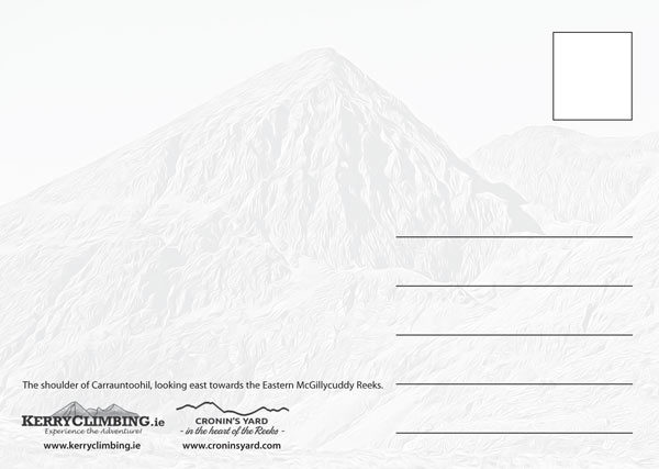 Carrauntoohil shoulder postcard back