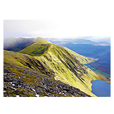 Carrauntoohil shoulder postcard