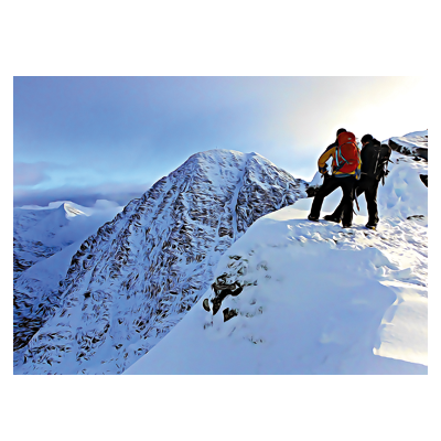 Carrauntoohil winter view postcard