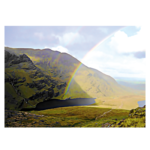Hags Glen rainbow postcard