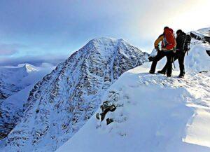 Carrauntoohil winter view postcard