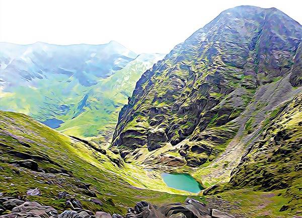 Irelands highest lake postcard