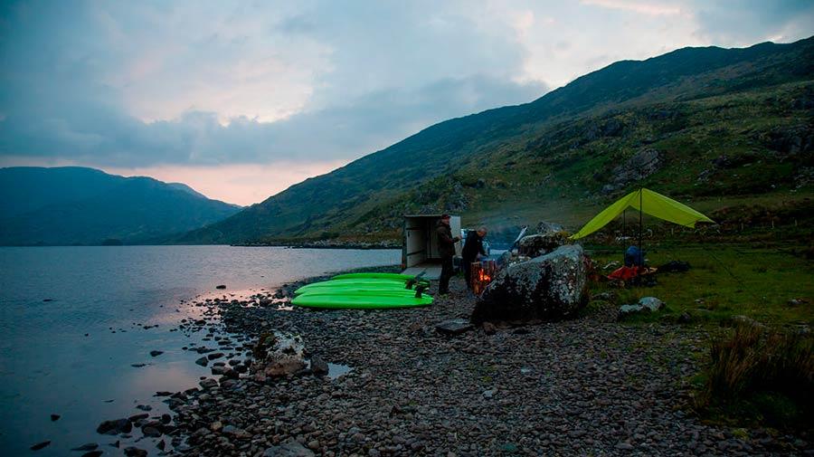 Night SUP on Cloon Lake