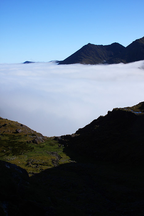 Cloud inversion over the Hags Glen
