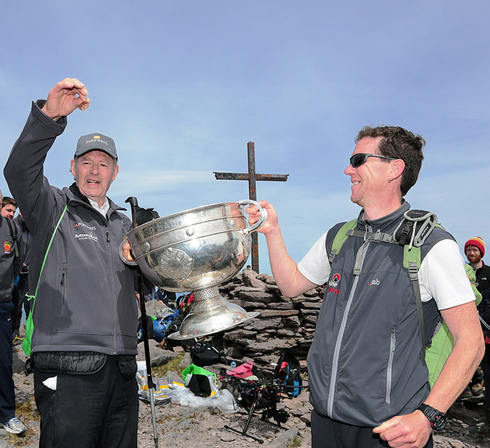 A truly memorable day spent guiding the legendary GAA personality Micheál O Muircheartaigh as well as the historic Sam Maguire trophy to the summit of Corrán
