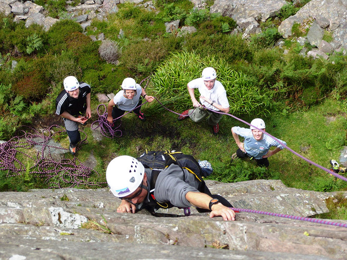 One of the Kerry Climbing introduction rock climbing courses