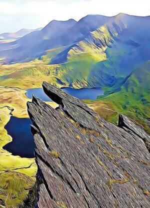 The finger of Howling Ridge postcard