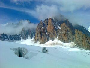 Glacier du Géant and faces of Mont Blanc du Tacul