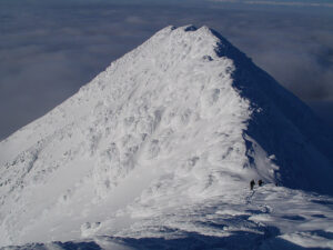 Cloud inversion and fantastic snow