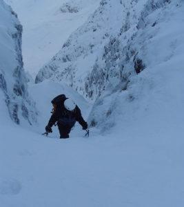 Winter mountaineering in Kerry